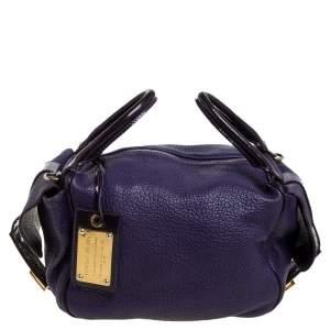 Dolce & Gabbana Purple Leather Side Pocket Shoulder Bag