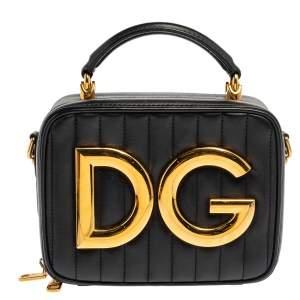 Dolce & Gabbana Black Quilted DG Girls Crossbody Bag