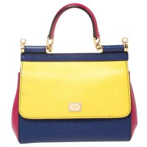 Dolce and Gabbana Multicolor Leather Small Miss Sicily Top Handle Bag