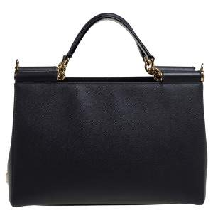Dolce & Gabbana Grey Leather Sicily East West Tote