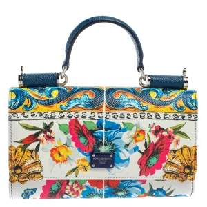 Dolce & Gabbana Multicolor Floral Print Leather Sicily Von Smartphone Bag