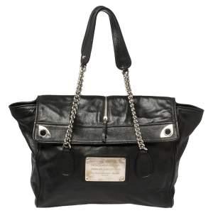 Dolce & Gabbana Black Leather Miss Zip Me Up  Shoulder Bag