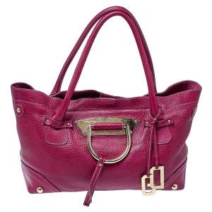 Dolce & Gabbana Fuchsia Leather D-Ring Tote