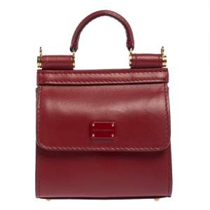 Dolce & Gabbana Red Leather Sicily 58 Micro Bag