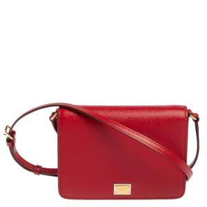 Dolce & Gabbana Red Leather Crossbody Bag