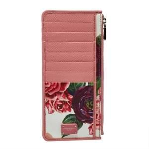 Dolce & Gabbana Pink Floral Print Zipped Card Holder