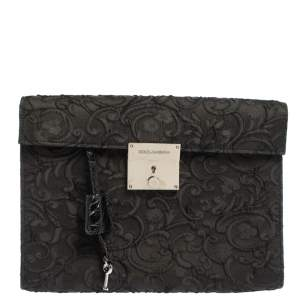 Dolce & Gabbana Black Lace Clutch