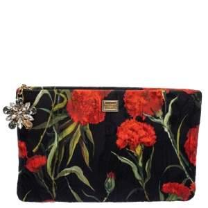 Dolce & Gabbana Multicolor Brocade Fabric Clutch