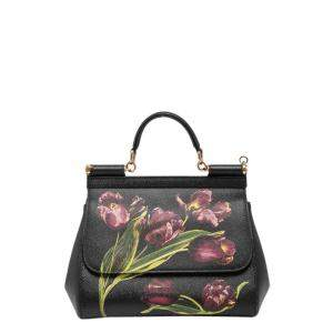 Dolce and Gabbana Multicolor Leather Miss Sicily Bag