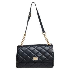 Dolce & Gabbana Black Quilted Leather Miss Kate Shoulder Bag