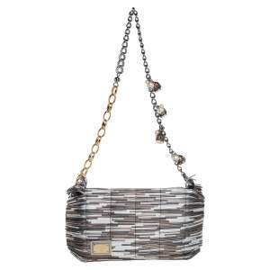 Dolce & Gabbana Metallic Multicolor Leather Miss China Shoulder Bag