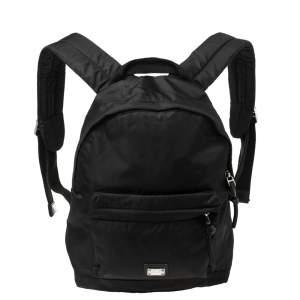 Dolce & Gabbana Bambino Black Nylon Backpack