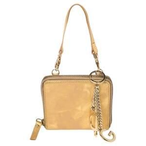 Dolce & Gabbana Gold Leather Clutch