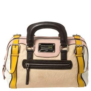 Dolce & Gabbana Multicolor Leather Miss Easy Way Satchel