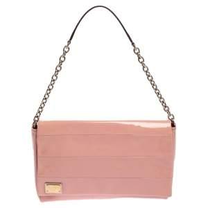 Dolce & Gabbana Pink Patent Leather Miss Martini Shoulder Bag