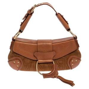 Dolce & Gabbana Tan Leather And Suede Shoulder Bag