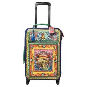 حقيبة سفر دولتشي أند غابانا أربع عجلات مطبوعة تياتر دي بوبي متعددة الألوان 60 سم