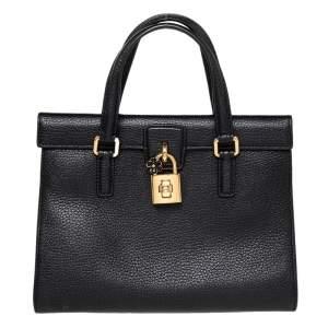 Dolce & Gabbana Black Leather Dolce Lady Shoulder Bag