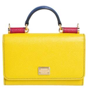 Dolce & Gabbana Multicolor Leather Miss Sicily Von Wallet