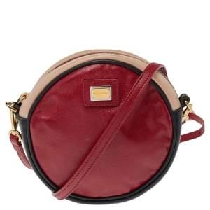 Dolce & Gabbana Multicolor Leather Round Shoulder Bag