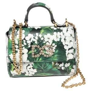 Dolce & Gabbana Multicolor Leather Embellished Chain Bag