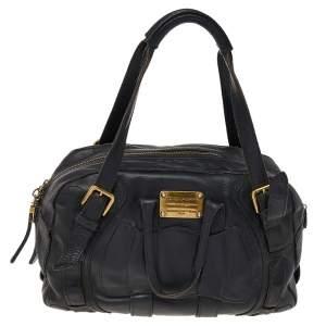 Dolce & Gabbana Black Leather Miss Class Satchel