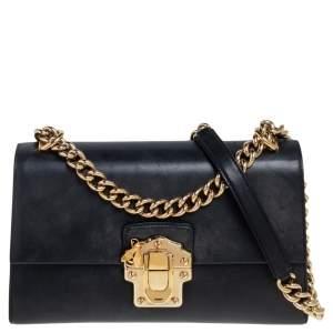 Dolce & Gabbana Black Leather Lucia Shoulder Bag
