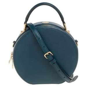 Dolce & Gabbana Green Leather Round Shoulder Bag