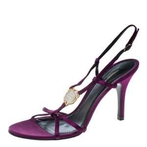 Dolce & Gabbana Purple Satin Sandals Size 40