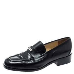 Dolce & Gabbana Black Leather Vintage Loafers Size 37.5