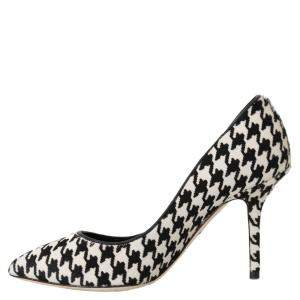 Dolce & Gabbana Black/White Hair Leather Pumps Size 40.5
