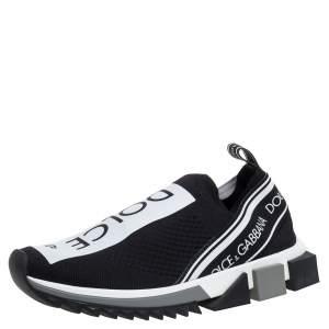 Dolce & Gabbana Black Mesh Fabric Sorrento Low Top Sneakers Size 39