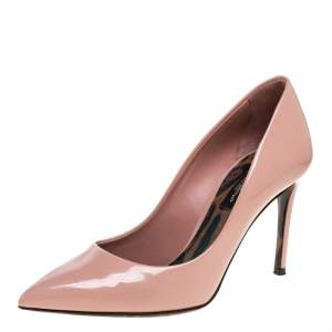Dolce & Gabbana Pink Patent Leather Pointed Toe Pumps Size 35