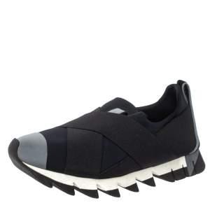 Dolce & Gabbana Blue Neoprene and Elastic Band Ibiza Sneakers Size 39