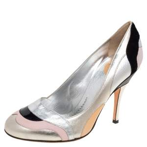 Dolce & Gabbana Multicolor Patent And Leather Pumps Size 38.5