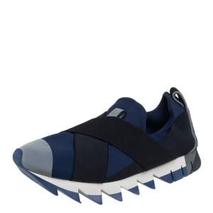 Dolce & Gabbana Multicolor Neoprene Fabric Ibiza  Slip On Sneakers Size 40