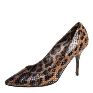 Dolce & Gabbana Brown Python Leather Pumps Size 39
