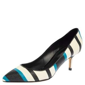 Dolce & Gabbana Multicolor Leather Pointed Toe Pumps Size 37