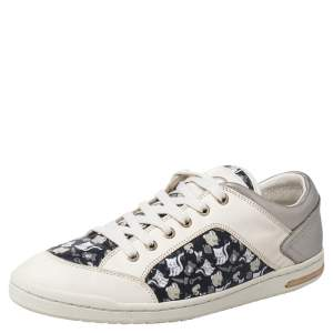 Dolce & Gabbana Black/Grey Leather Low Top Sneakers Size 40