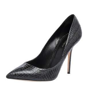 Dolce & Gabbana Black/Grey Python Pointed Toe Pumps Size 40