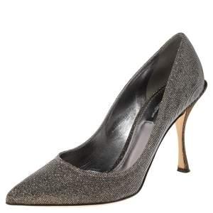 Dolce & Gabbana Metallic Lurex Fabric Lori Pumps Size 39