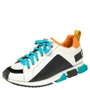 Dolce & Gabbana Multicolor Leather Super King Sneakers Size 37