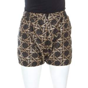 Dsquared2 Bicolor Wicker Woven Frayed Trim Detail Shorts M