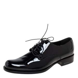 Dsquared2 Black Patent Leather Lace Up Derby Size 38