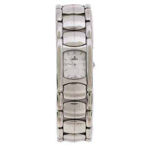 Ebel Mother of Pearl Stainless Steel Beluga Manchette E9057A21 Women's Wristwatch 19 mm