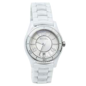 Ebel Silver White Ceramic & Stainless Steel X-1 1216129 Women's Wristwatch 34 mm