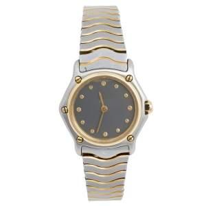 ساعة يد نسائية إيبيل كلاسيك ويف 166901 ستانلس ستيل ذهب أصفر عيار 18 رصاصي 24 مم