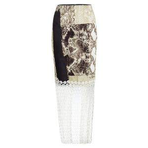 تنورة إيلي طهاري دانتيل طباعة نقشة الثعبان M
