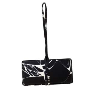 Emilio Pucci Black/White Satin Clutch