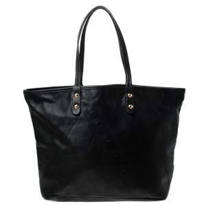 Emilio Pucci Black Leather Shopper Tote
